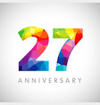 27 anniversary colorful facet logo
