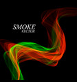 abstract colorful smoke isolated on black vector image vector image