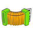 accordion icon cartoon vector image vector image