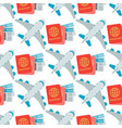 Airplane seamless pattern background