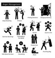 anger management stick figure pictograph icons