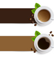 banners with coffee cups vector image vector image