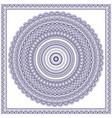 blue mandala vector image vector image