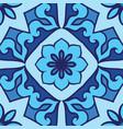 blue ornamental pattern vector image