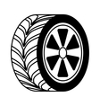 car tire isolated icon vector image vector image