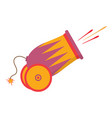 cartoon cannon on white vector image vector image