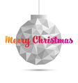 Christmas ball ornaments polygon style vector image