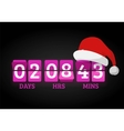 Christmas clock timer digits board panels vector image vector image