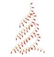 christmas tree made of electric garland vector image vector image