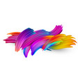 colorful abstract brush strokes on white vector image