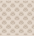 damask neutral color floral seamless vector image vector image