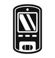 digital glucometer icon simple style vector image vector image