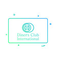 dinners club international card icon design vector image