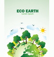 eco green earth vector image vector image