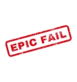 Epic Fail Text Rubber Stamp vector image vector image