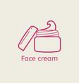 face cream thin line icon vector image vector image