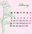 february 2015 flowers vector image vector image