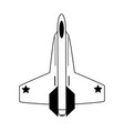 fighter jet airplane icon image vector image