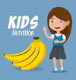 happy girl with nutrition food vector image vector image