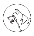 Head of breed dog german shepherd vector image