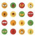 Insects Icons Flat vector image