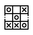 kids game noughts and crosses sign icon vector image vector image