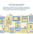 kitchen equipment concept background in line style vector image vector image