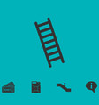 ladder icon flat vector image vector image