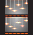 lamps hanging on the ceiling vector image