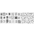 lines and scrabbles doodle set vector image vector image