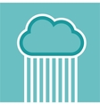 Man in cloud logo isolated on white vector image vector image