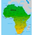 map of african continent vector image