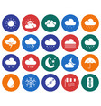 modern line style icons set weather vector image
