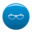 modern spectacles icon blue vector image