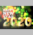 New year invitation big golden 2020 number