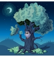 Night Forest Design vector image