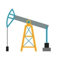 Oil rig industry business concept of derrick vector image
