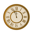 old vintage clock face vector image