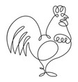 one line drawing vector image vector image