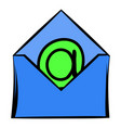 open envelope with e-mail sign icon icon cartoon vector image vector image