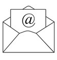 outline email icon in trendy flat style on white vector image vector image