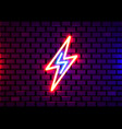 realistic isolated neon sign energy vector image vector image