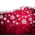 Red card with christmas snowflakes EPS 8 vector image vector image