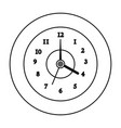 round clock time vector image