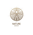 sacred abstract nature vector image vector image