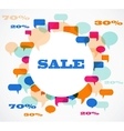 sala background of colorful speech bubbles vector image vector image