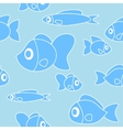 Seamless pattern with fish in cartoon style vector image