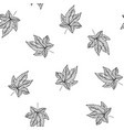 seamless pattern with leaves floral vector image vector image