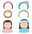set of headband vector image vector image