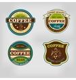 set retro coffee house shop badges labels vector image